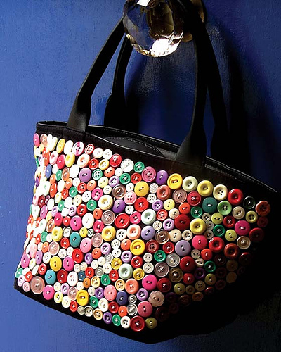 Button Bags As a Craft Idea