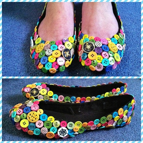 Button Footwear Craft Creativity