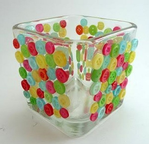 Button Glasses Unique Craft