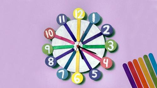 Candy Stick Clock