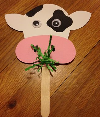 Candy Stick Cow Craft