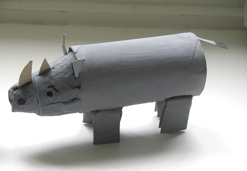 Cardboard Roll Rhino