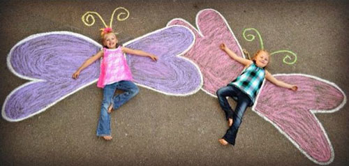 Chalk Butterfly Craft
