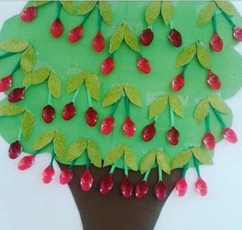 Cherry Tree Fruit Craft