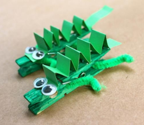 Clothes Pin Crocodile
