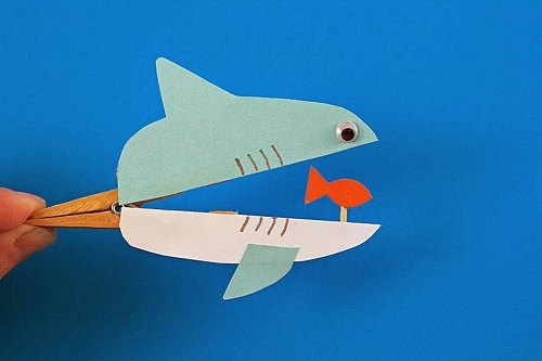Clothes Pin Shark