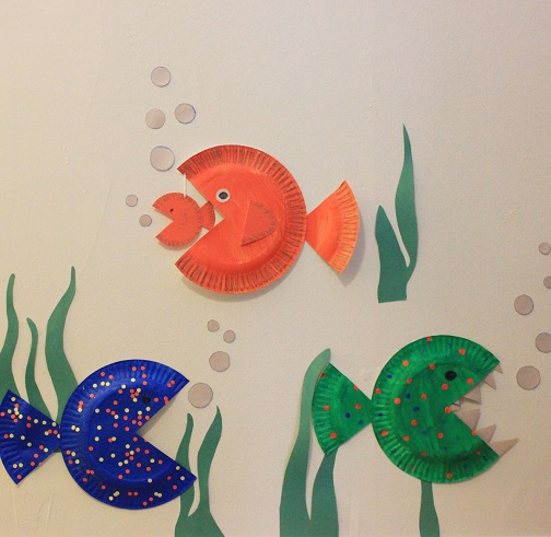 Colorful Paper Plate Fish