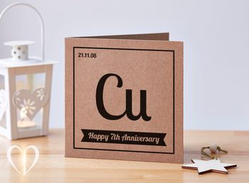 Make A Simple Hy 7th Anniversary Card For Your Spouse That Is Quirky Too Use The Symbol Copper In Center Of And It Bold