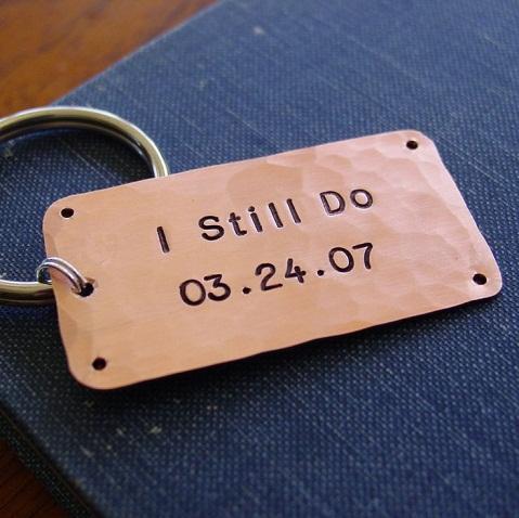 Copper Key Ring