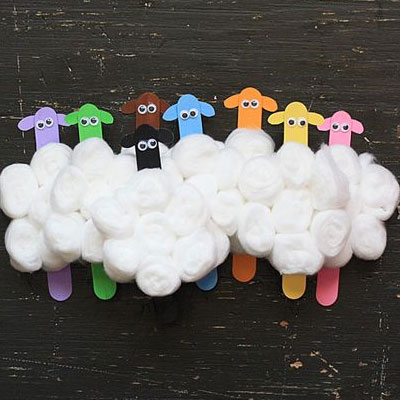 Cotton Crafts Are The Simple For Kids From You Can Make Sheep All Got To Do Is Your Child Collect Ice Cream Stick Or Twigs