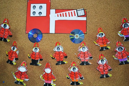 Crafts of Fire Safety as Toddlers Activities