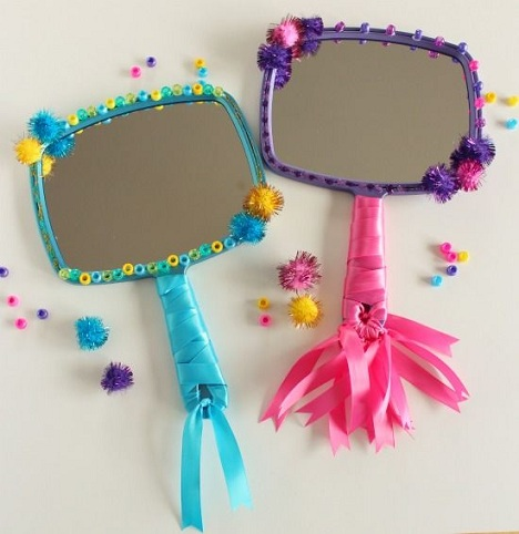 It Is Every Girls Desire To Have A Princess Mirror. And These Are The Very  Common Arts And Crafts For Girls. Just Decorate The Mirror With Anything  You Like ...