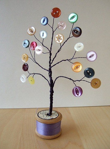 Decorative Button Tree Craft