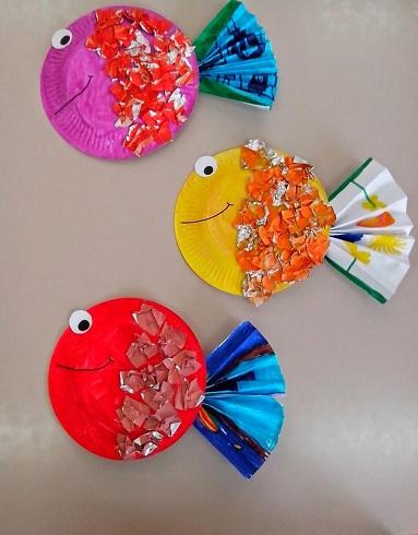 Distinctive Paper Cups Fish Crafts