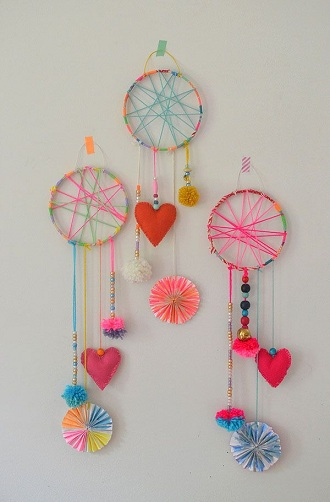 This Is The Most Trending Girl Craft That Is Liked By Everyone. Making A  Dream Catcher Is Not That Hard And An Interesting Time Consuming Activity  For Girls ...