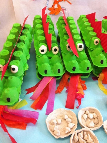 Egg Carton Dragon Craft