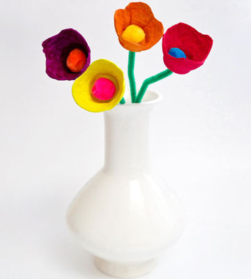 Egg Designer Flowers as a Craft