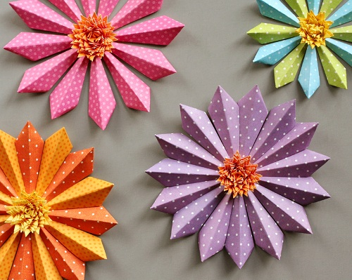 Exotically Designed Paper Flower Crafts