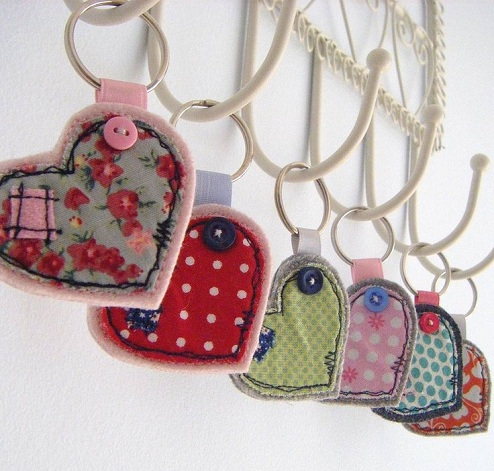 Fabric Craft key Rings