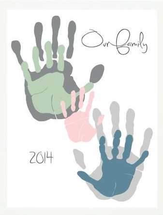 Family Hand Prints Craft