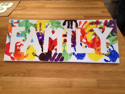 Family Hand Print and Footprint Craft