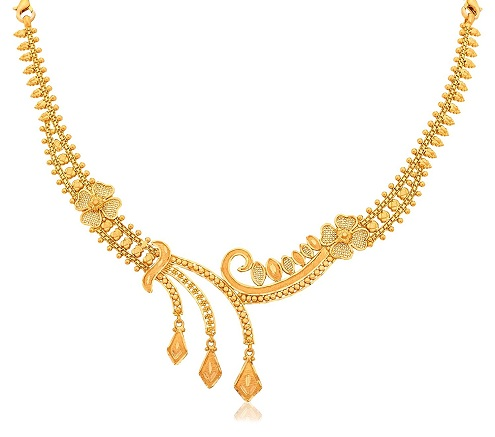 Fashionable Gold Necklace in 40 Grams