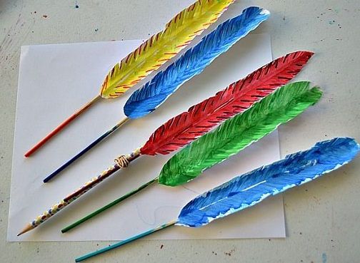 Feathered Pencil Topper