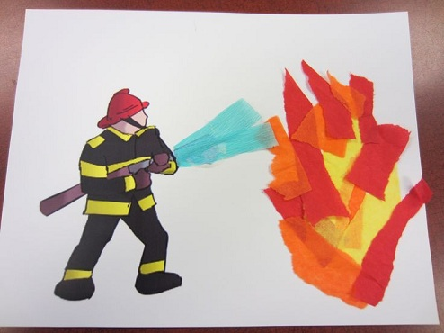 Firemen Crafts for Concept Display
