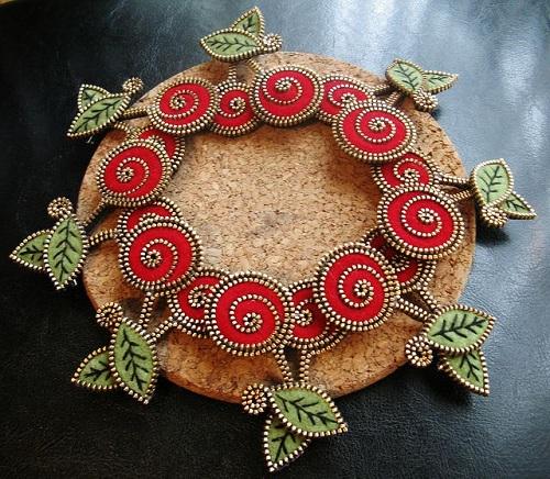 Flower Zipper Crafts