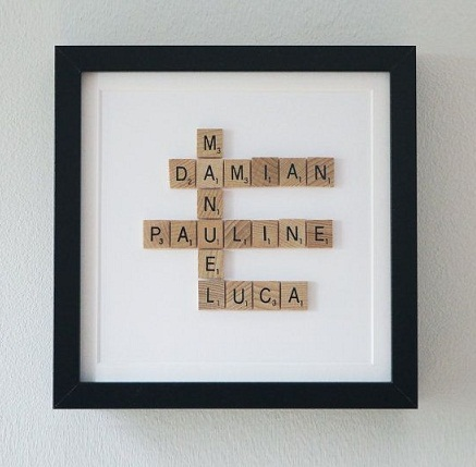 Framed Scrabble Tree