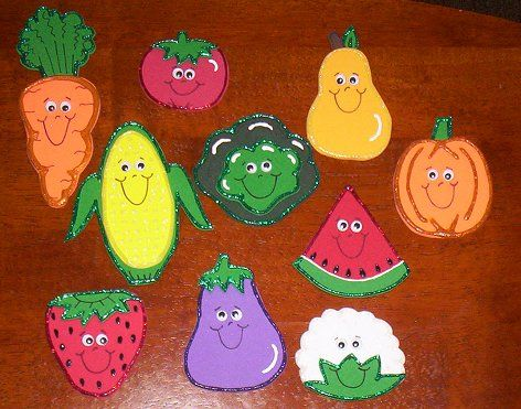 Fruits and Vegetables Cutouts Crafts