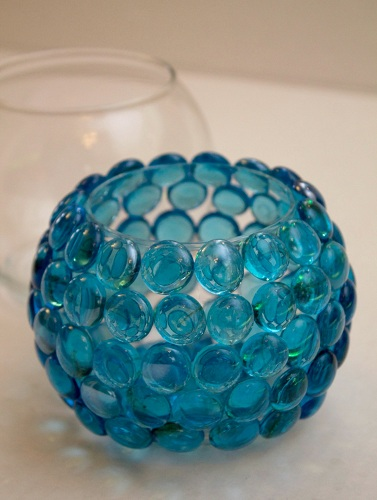 Glass Bead Crafts Have Been Trendy These Days Adding A New Look To Your Candle Light Decorations The Pot Can Be Made Using Single Dual Or Various Color