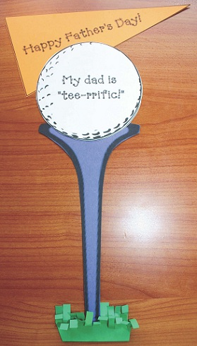 Golf Tree Father's Day Card