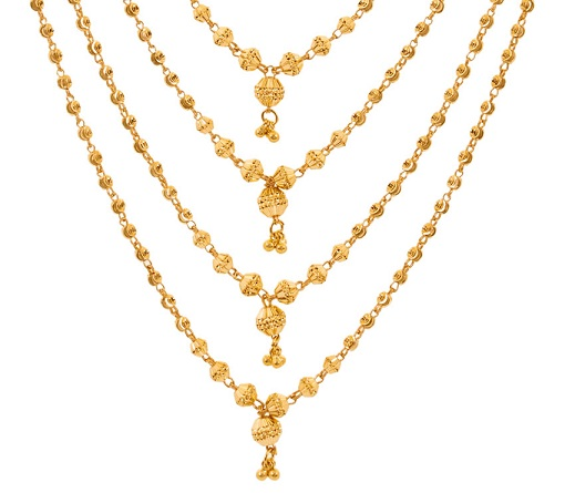 Grandeur Layered Necklace in 40 Grams