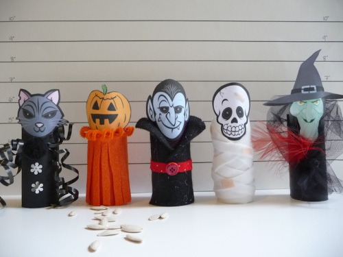 Halloween with Toilet Paper Roll