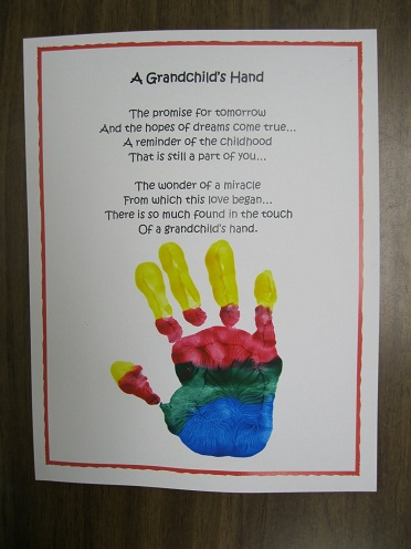 Hand Print Card