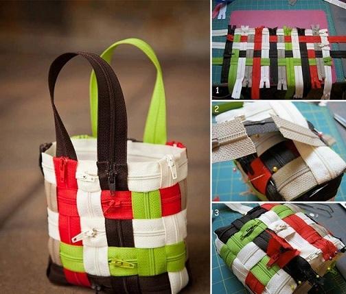 Hand Woven Zipper Bag Crafts