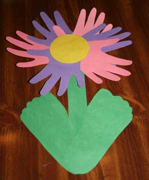 Hand and Footprint Flower Crafts