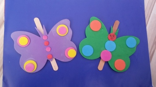 Ice Cream Stick Butterfly Craft