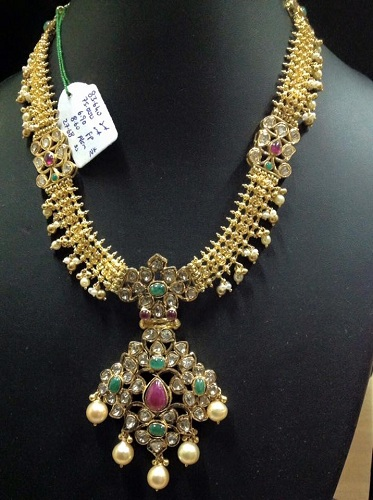 Kundan Necklace in 40 Grams