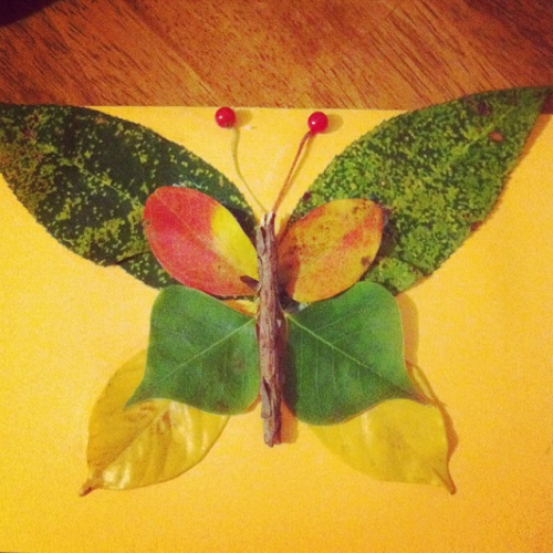 Leaf Butterfly Craft