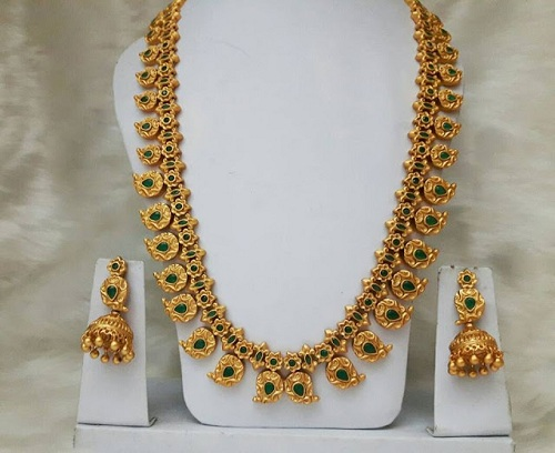 Mango Design 40 Gm Gold Necklace