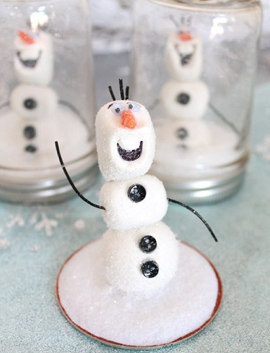 Mason Jar Sweet Olaf Frozen Crafts
