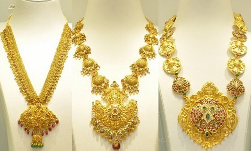 Meenakari Necklace Designs in 40 Grams Gold