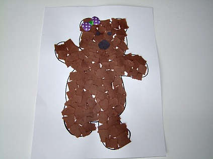 Mosaic Craft Teddy Bear