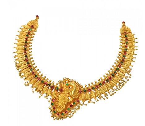 Nagas Peacock Design Necklace