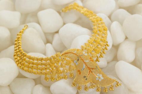 Neckline Gold Necklace