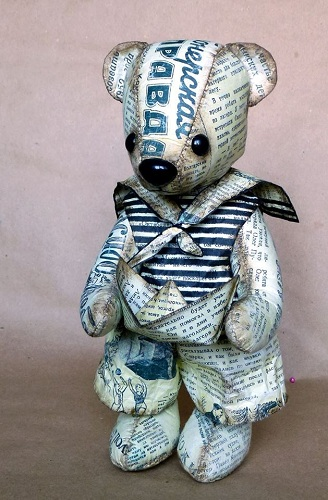 Newspaper Teddy Bear
