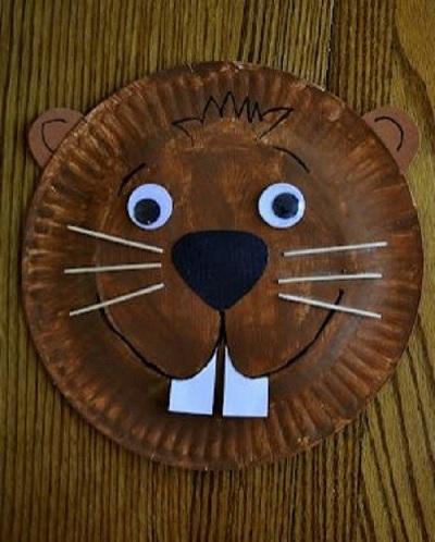 Paper Dish Beaver Mask