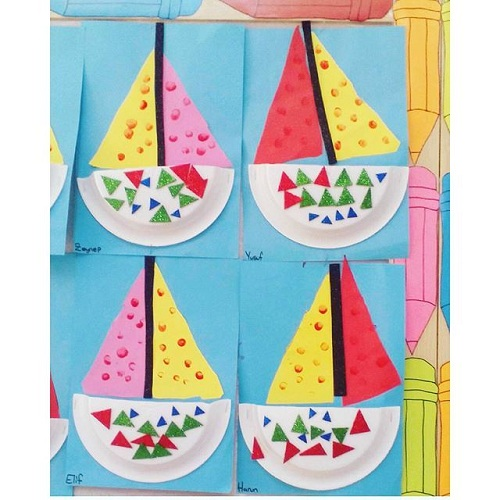 Paper Plate Boat Transportation Craft